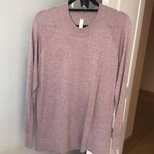 Light pink Lulu's sweater cardigan size L